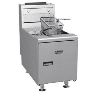Pitco Sgc s Countertop Full Pot Gas Fryer 35 Lb Oil Capacity