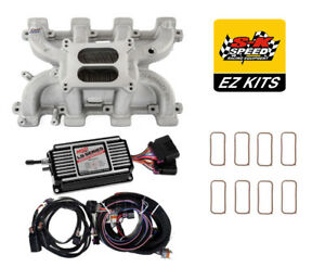 Ls Cathedral Carb Conversion Kit Edelbrock Performer Intake Msd 60143 Ignition