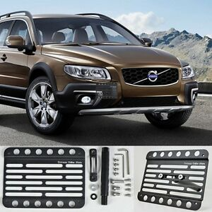 For 2008 up Volvo Xc70 Front Bumper Tow Hook License Plate Bracket Holder