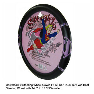 Bdk Dc Comics Pink Super Girl Supergirl Truck Suv Van Boat Steering Wheel Cover