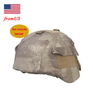 Tactical Airsoft Military MICH 2000 Ver2 Helmet Cover W Back Pouch A-tacs AT