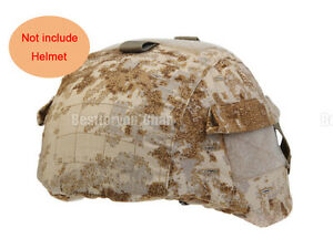 Tactical Airsoft Military MICH 2000 Ver2 Helmet Cover with Back Pouch Sandstorm