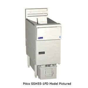 Pitco Ssh55 1fd High Efficiency Gas Fryer With Filter 40 50 Lb Oil Capacity