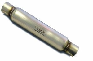 2 Straight Universal Glasspack Muffler Resonator 23 Long