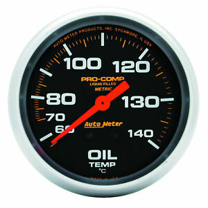 Auto Meter 5441 Oil Temperature Gauge 2 5 8 140 280 Degrees Liquid Fil