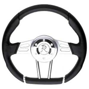 Flaming River Fr20130bk Steering Wheel D Shaped Wheel Black 13 5 Inch