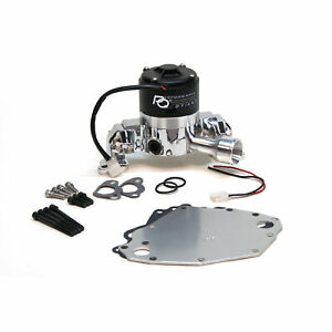Prw 4435119 Electric Water Pump Ford 351c Chrome Kit Incl Alum Backplate Hard
