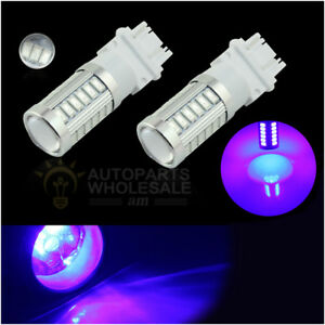 2 X Blue 3157 T25 33smd 5730chip Daytime Running Lights Led Bulbs Drl Lamp
