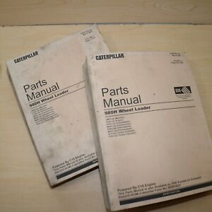 Cat Caterpillar 980h Wheel Loader Parts Manual Book Catalog Front End Spare 2007