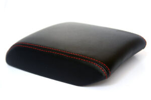 Armrest Center Console Leather Synthetic Cover For Mazda 6 14 17 Red Stitch