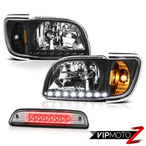 01 04 Toyota Tacoma S Runner Chrome High Stop Lamp Black Headlights Corner Led