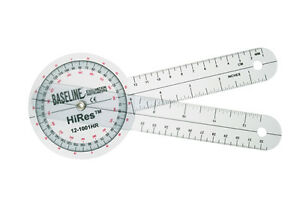 Plastic Goniometer Hires 360 Degree Head 8 Arms 25 Pk