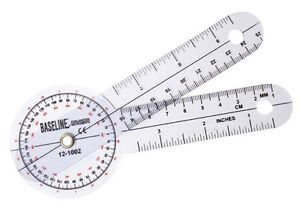 Plastic Goniometer 360 Degree Head 6 Arms 25 Pk