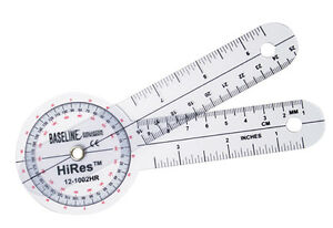Plastic Goniometer Hires 360 Degree Head 6 Arms 25 Pk