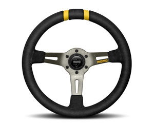Momo Steering Wheel Drift Black Suede 330mm Hub Adapter