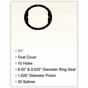 Richmond Gear Gm85308 Ring And Pinion Gm 10 bolt 8 5 3 08 Excel Gear
