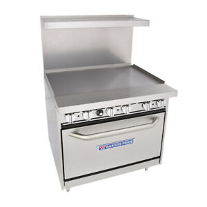 Bakers Pride 36 bp 0b g36 s30 Restaurant Series Gas Range W 36 Griddle