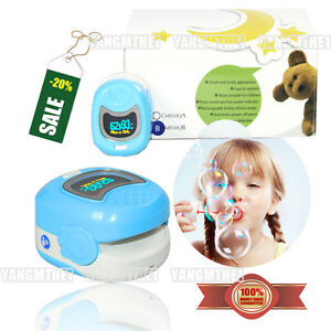Cms50qb Blue Oximeter oled Color Screen small Appearance more Fit For Children