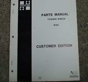 Hyster Towing Winch W3a Parts Manual Book Spare Catalog Crawler Tractor Dozer