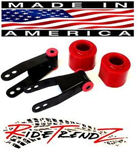 Jeep Xj Cherokee Lift Kit 3 Front Poly Spring Spacers 2 Rear Shackles 4wd Rn4