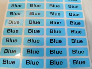 3000 Blue Glossy Customized Waterproof Name Stickers Labels 0 9 X 2 2 Cm Tags