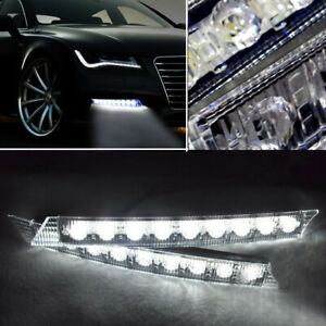Audi Style Led Daytime Running Light Drl Daylight Kit Fog Lamp Day Lights Bmw