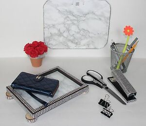 Set Of 10 Bling Office Desk Accessories Desktop Accessories Dorm Room Desk Set