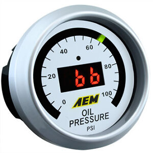 Aem Oil Pressure Gauge 0 To 100 Psi