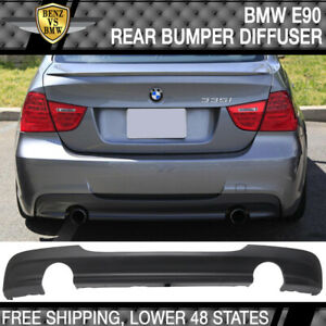 Fits 06 11 Bmw E90 3 Series 335 Only M Tech Msport Rear Bumper Lip Diffuser Pp