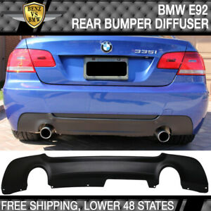 Fits 07 13 Bmw E92 3 Series 335 Only M Tech Msport Rear Bumper Lip Diffuser Pp