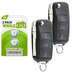 2 Replacement For 02 2003 2004 2005 Volkswagen Golf Jetta Passat Key Fob Remote
