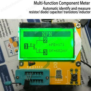 Digital Combo Component Meter Tester Measure Transistor Diode Capacitor Inductor