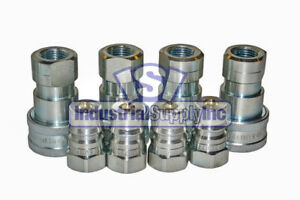 4 Sets Of 1 2 Iso 7241 1 B Hydraulic Quick Disconnect Couplers