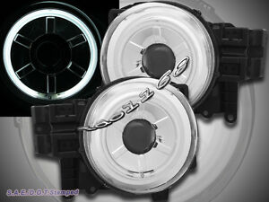 07 14 Toyota Fj Cruiser Projector Headlights Chrome Ccfl Halo Angel Eyes Pair