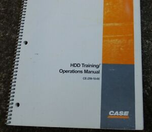 Case Hdd Horizontal Directional Drill Owner Operator Maintenance Manual Book
