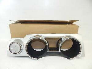 New Oem 2005 2009 Ford Mustang Instrument Panel Dash Cluster Bezel Silver