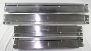 1958 60 Lincoln 4 door Sill Aluminum Plates Set Of 4 New Acid Etched As Original