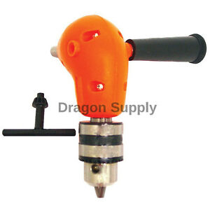 New Angle Adapter Metal Gear 90 Degree Right Angle Drill Attachment 3 8 Chuck