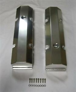 Small Block Chevy Fabricated Aluminum Valve Covers Sbc 283 305 350 With Holes