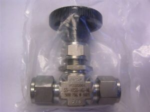 1 Swagelok Ss 1rs8 ag nl Stainless Steel Needle Valve 1 2 Tube Fitting 5000psi