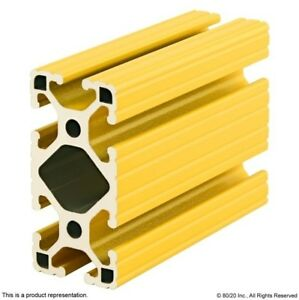 80 20 Aluminum Extrusion Powder Coated 15 Series 1530 lite yellow X 48 Long N