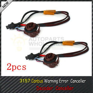2pcs 3157 4157 Pre Wired Load Resistor Fix Hyper Flash For Led Turn Signal Light