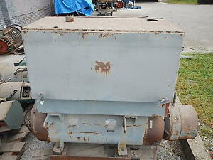 75 Kva Westinghouse Synchronous Motor Generator 3 Phase 414 Cy 208 120 V 200 A