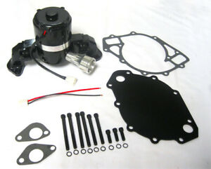 Big Block Ford Electric Water Pump High Volume Hv Black Bbf 429 460 W Plate