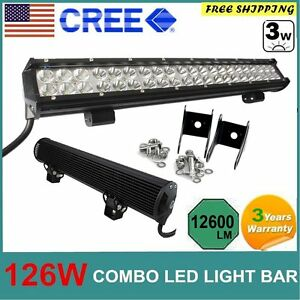 Cree Led Work Light Bars Off Road Worklight Led Spot Boat Golf Cart 20 126w
