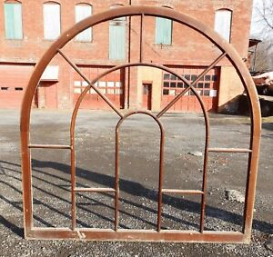 Large Wide Antique Gothic Arched Dome Top Palladian Window Old Vintage 5265 15
