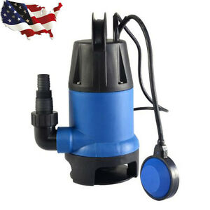 1 2 Hp 2000gph Submersible Dirty Clean Water Pump Swimming Pool New