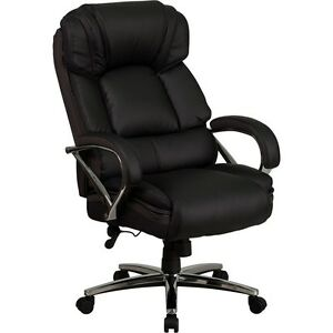 Flash Hercules Series Big And Tall Black Leather Executive Swivel Office Chair