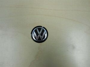 Personal Steering Wheel Horn Button Black With Silver Volkswagen Vw Logo