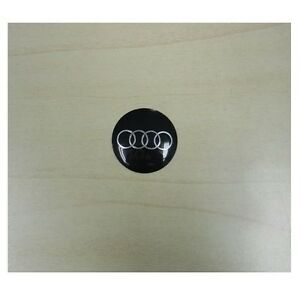 Personal Steering Wheel Horn Button Black With Silver Audi Logo Made In Italy